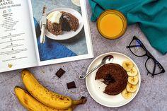 Bowlcake banane et coeur coulant chocolat (extrait de mon livre)