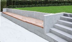 Garden retaining wall seat mock up landscaping retaining wall Backyard Retaining Walls, Concrete Retaining Walls, Sloped Backyard, Backyard Pool Designs, Wall Bench, Patio Wall, Wall Seating, Wood Fence Design, Patio Design