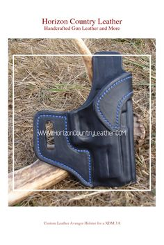 Custom Leather Avenger style holster for a XDM 3.8