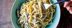Oddly enough, this pasta tastes a lot like beef stroganoff, and we're super into it.
