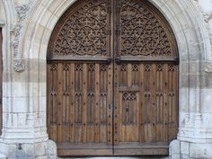 Doors to the palace of Jacques Coeur (i.e., Jack Heart) in Bourges.