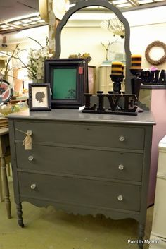 Annie Sloan Chalk Paint, i think this is chateau grey
