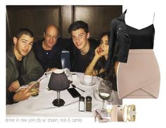 """""""dinner in new york city w/ nick, shawn, and camila"""" by mikkielaine ❤ liked on Polyvore featuring Boutique, Gabriella, Ted Baker, Nordstrom, Doublju, Casetify, David Yurman, Cartier and Gucci"""