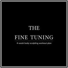 4-Week Body Sculpting Workout Plan For Women