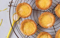 Homemade lemon curd tarts