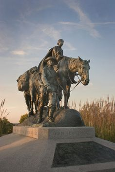 The Pioneer Mother Memorial at Penn Valley Park Kansas City, Missouri dedicated in 1927 is present today.