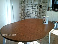 Table Makeover...how to paint a laminate table....gonna do this this spring
