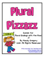 """Plural Pizazz!- For speech/Lang groups playing the game """"Forest Friends"""",I would let the student move ahead if they say the plural noun correctly and then allow a bonus move ahead for correct spelling"""
