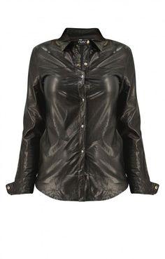 Γυναικείο πουκάμισο από δερματίνη  POUK-1624 Leather Jacket, Jackets, Fashion, Studded Leather Jacket, Down Jackets, Moda, Leather Jackets, Fashion Styles, Fashion Illustrations