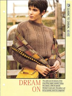 Knitting pattern  Woman's Dream On sweater by MyPatternsCollection