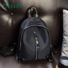 Guangzhou Supplier OEM Factory Black Pu Women Backpack Bag 2017