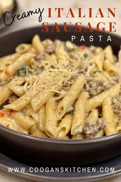 Italian Sausage Pasta, Italian Sausage Recipes, Quick Easy Meals, Easy Dinner Recipes, Pasta Recipes, Creamy Pasta Bake, Dinner On A Budget, Budget Meals, Kitchen Recipes