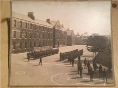 Original WW1 Photograph showing the Somerset Light Infantry on the parade ground at Taunton Barracks