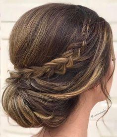 Braided updo hairstyles,chignon bridal hairstyle ideas,wedding hairstyle #WeddingHairstyles