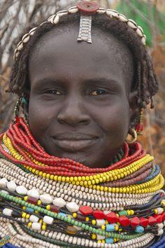 """""""Nyangatom (Bumi) woman, Omo river valley, Southern Ethiopia"""" Fotografie von…"""