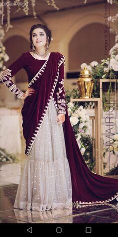 Buy Saddle Brown Color Pre-Stitched Saree by Akanksha Singh at Fresh Look Fashion Pakistani Fashion Party Wear, Pakistani Formal Dresses, Shadi Dresses, Pakistani Wedding Outfits, Pakistani Dress Design, Indian Dresses, Dress Formal, Indian Fashion, Stylish Dresses For Girls