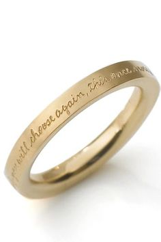 THIS WOULD MAKE ME BAWL.  Put your own special saying on a siiiilver wedding band.  Oh my goshhhhh.
