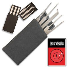 Credit Card Wallet Sized Lock Picking Set w/ Case