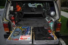 One Year Later by nine(xn), via Flickr XJ trunk drawers.