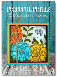 Gorgeous card made with the Stampin' Up! Blendabilities pens