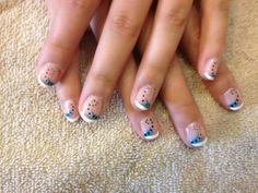 #dots #blueandblack #frenchnails