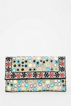 Ecote Beaded Mirror Crossbody Clutch #urbanoutfitters