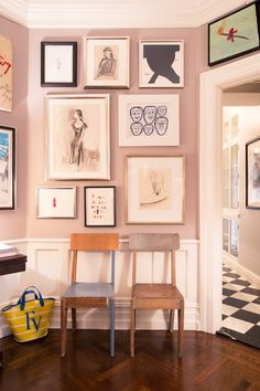 """A Look at Andy and Kate Spade's Art Collection: """"We've been here a little over 15 years. We were living downtown in Tribeca. We'd never lived above Spring Street, but we were planning on having a family. Kate said, 'I really want to have Woody Allen's New York life.' I've dreamt of that—we're both not from New York. She said, 'I want to be around trees and the park.' So, we asked a friend to show us apartments. We didn't know where we'd end up!""""   coveteur.com"""