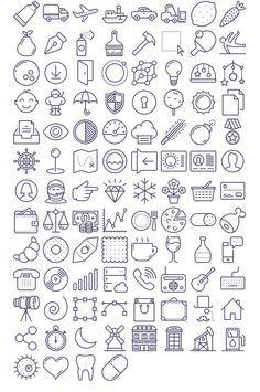 Free Download : 100 Unigrid vector icons