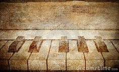 Vintage grunge piano musical background