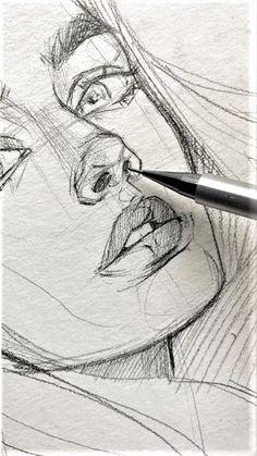 dessin drawing sketches jolie crayon pencil face drawings sketchbook aesthetic visage creative pretty portrait sketch fille easy blackandwhite sketchbooks sservices