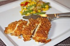This Baked Parmesan Chicken is so good and one of our most popular recipes! #baked #parmesan #chicken #recipe #skinnyms