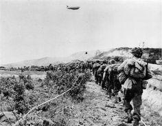 American soldiers advance towards Carentan, 13 june 1944