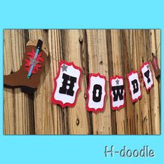 A personal favourite from my Etsy shop https://www.etsy.com/listing/274398490/cowboy-boot-howdy-western-banner
