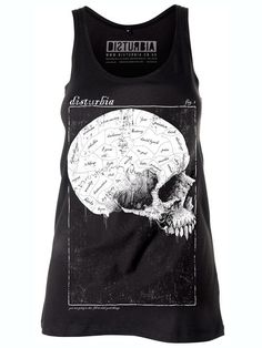 Phrenology Vest Dress #skull #style #black