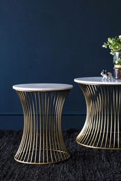 Round Marble Coffee Tables - Small - Coffee & Side Tables - Furniture £120