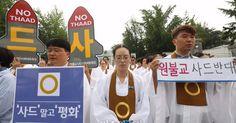 """원불교 """"사드와 성지는 공존할 수 없다"""", 국방부 앞 대규모 기도회"""
