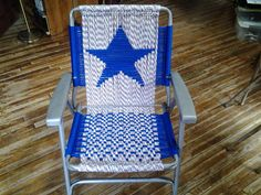 macrame lawn chair by chairsandpens on Etsy