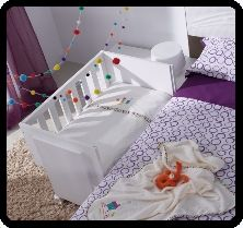 Cuna Colecho side sleeper cots for co-sleeping. Lots of cute models!