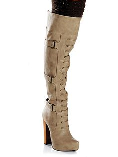 Wooden Platform Boot from Frederick's of Hollywood!