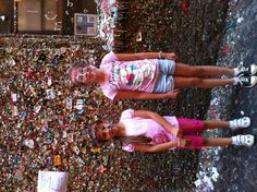Ariana & Raelene at the Gumball Wall in Seattle.