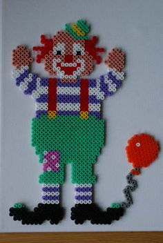 Clown hama perler beads by Jeannet Stotefalk