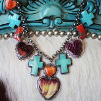 Navajo Multi Stone Charm Necklace from Cowgirl Kim  www.maverickstyle.net