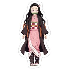 Nezuko - Demon Slayer: Kimetsu no Yaiba Sticker Anime Stickers, Diy Stickers, Printable Stickers, Aesthetic Stickers, Slayer Anime, Disney Wallpaper, Kawaii Anime, Shirts, Planner Stickers