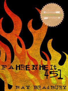 "Fahrenheit 451 Minimalist Book Art Printable 8x10  Fun fact: the smoke ""grunge"" texture on the fire is actually the text of Ecclesiastes 3 over and over and over again, a reference that fans of Ray Bradbury's ""Fahrenheit 451"" will be sure to get."
