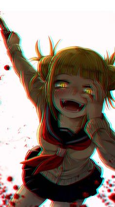 New My Hero Academia Dark Anime Wallpaper Dark Anime Girl, Kawaii Anime Girl, Manga Kawaii, Anime Art Girl, Animes Yandere, Yandere Anime, Chica Anime Manga, Tsundere, Hero Wallpaper