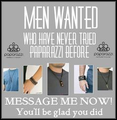 Men wanted...Paparazzi Accessories, 24034