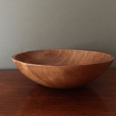 Large Wooden Dough Bowl Vintage Wooden Bowl by SouthernLadyEstates