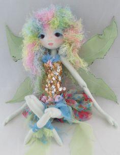 The Original Kaerie Faerie soft Sculpture Fairy doll, handmade in the USA