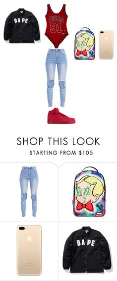 """""""My outfits#19"""" by kisha1891010 ❤ liked on Polyvore featuring interior, interiors, interior design, home, home decor, interior decorating, Forever 21, Nike air force, Sprayground and A BATHING APE"""