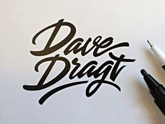 30 Beautifully Hand Drawn Typography Logos by Paul Von Excite in Typography